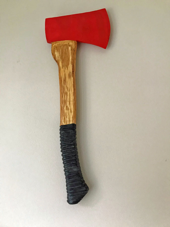 Vancouver Island Wood Carving of axe