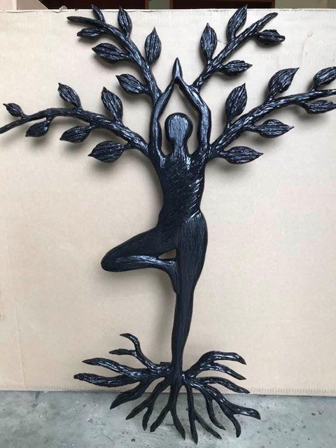 tree of life wood carving, made in Nanaimo on Vancouver Island by Kim Reavley