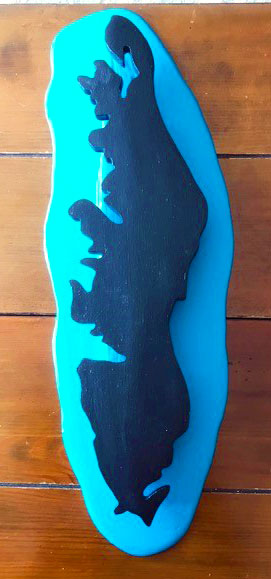 Vancouver Island silhouette wood carving made in Nanaimo by West Coast Wood Creations