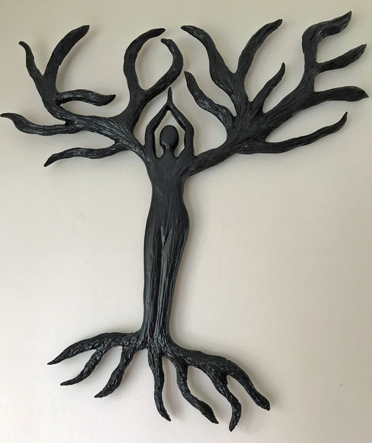 Tree of Life wood carving, made on Vancouver Island by wood carver West Coast Wood Creations