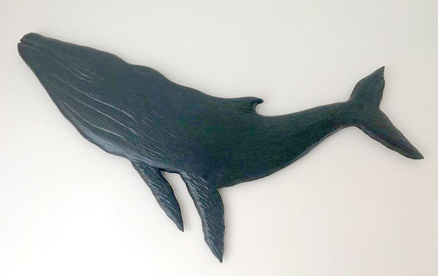 wood carving of Humpback Whale, carved on Vancouver Island in Nanaimo by West Coast Wood Creations